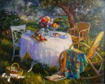 Вечер в саду  (2015, 80х100см,  холст, масло)