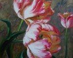 Тюльпаны (90x70см, холст, масло)