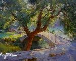 В Гагаринском парке (Симферополь, 2007, 50x60см, холст, масло)