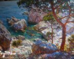 Над бухтой (Симеиз Крым, 2006, 90x130см, холст, масло)