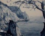 Над морем  (Мыс Ай-Я, 2014, 30x60см, бумага, акварель)