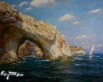 Южное море (2014, 90x110см, холст, масло)