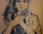 Портрет (2013, 35x25см, бумага, акварель)