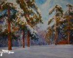 Зима в Кузьминках (2005, бумага, акварель)