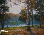 Осень в Кузьминках (2014, холст, масло)